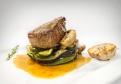 Hovädzí steak zo sviečkovice s demi - glace a grilovanou zeleninou